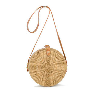 Image Is Loading Women Crossbody Handbag Bohemian Straw Bag Small Knitted