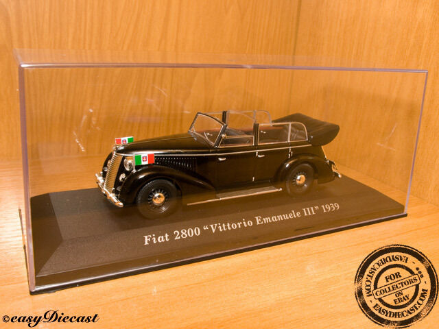 precioso FIAT 2800  VITTORIO EMANUELE III III III  1939 1 43 MINT     70% de descuento