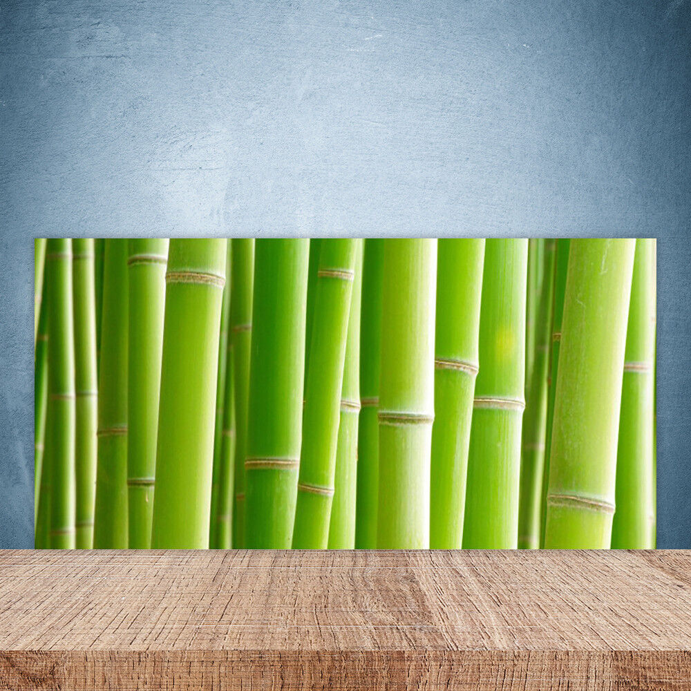 Crédence de cuisine en verre Panneau Paroi 100x50 Floral Bambou Tige