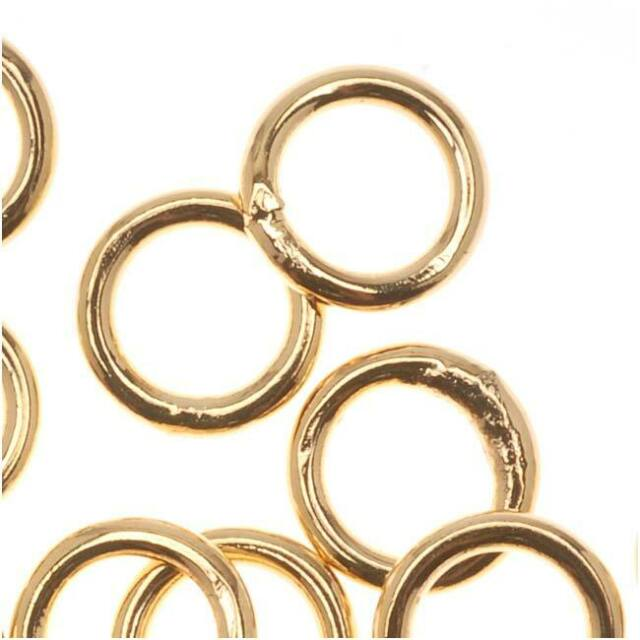 6mm 18gauge 200pcs BRASS Gold Plated Open Jump Rings Findings Earrings Necklace