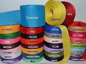 3-8-034-5-8-034-7-8-034-1-5-034-Grosgrain-Ribbon-4-Yards-of-1-Color-Solid-Bulk-Wholesale