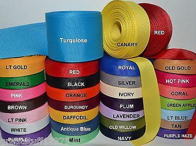 "3/8"" 5/8"" 7/8"" 1.5"" Grosgrain Ribbon 4 Yards of 1 Color Solid Bulk Wholesale"