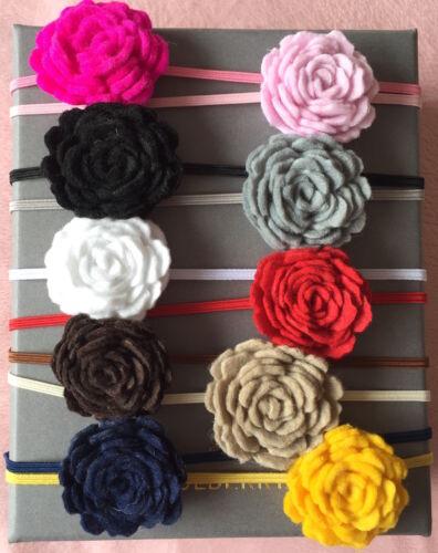 Felt Flower Baby Headband Girl Headbands Newborn Toddler Girls Christening Lot