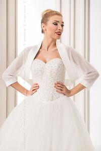 NEW-Women-White-Ivory-Chiffon-Wedding-Shawl-Bridal-Wrap-Satin-Edge-Stole-Bolero