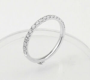 Half-Eternity-Diamond-Wedding-band-or-stacking-rings-comfort-fit-14K-Gold