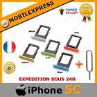 TIROIR SUPPORT CARTE SIM POUR IPHONE 5C BLANC JAUNE VERT BLEU ROSE + EXTRACTEUR
