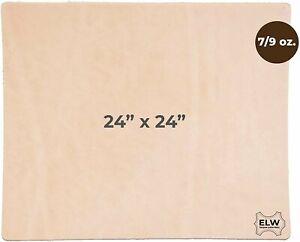 "Veg Tan Leather 24""x24"" 7/9 Oz. (2.8-3.6 mm) Full Grain Tooling Leather"