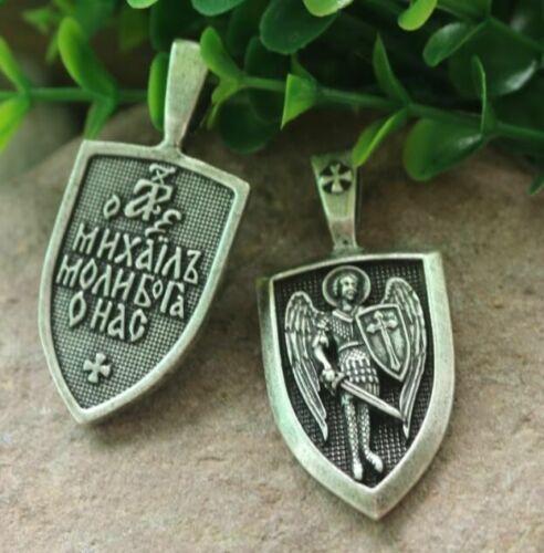 Archangel St Michael Pendant Protection Charm Russian Orthodox Saint Necklace