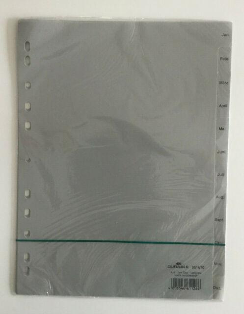 Ordner Register Monate Jan-Dez DIN A4 Farbe grau 12tlg.