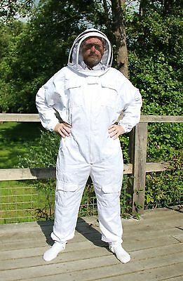 White Beekeepers Bee Suit with Fencing Veil - All Sizes