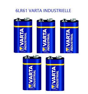 Lot-de-5-Piles-Alcalines-Varta-Industrielle-6LR61-9V-hautes-performances