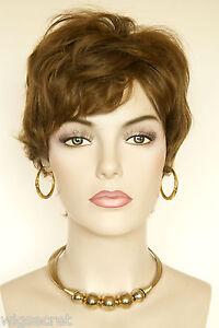light gold reddish brown brunette short human hair
