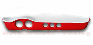 Tableau de Bord Fibre de Verre Cuir Artificiel Rouge Blanche Pour Fiat 500