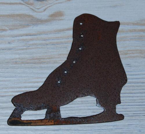 Schlittschuh Rost shabby chic 3 Größen Metall Winter Schlittschuhe Deko vintage
