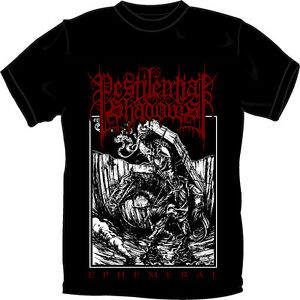 PESTILENTIAL-SHADOWS-EPHEMERAL-T-SHIRT-SMALL-Black-Metal-Blackmetal-NEW
