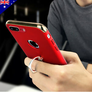 new arrival 58662 e49b5 Apple iPhone X 8 7 Plus Case, Luxury Metal Ring Buckle Grip Holder ...