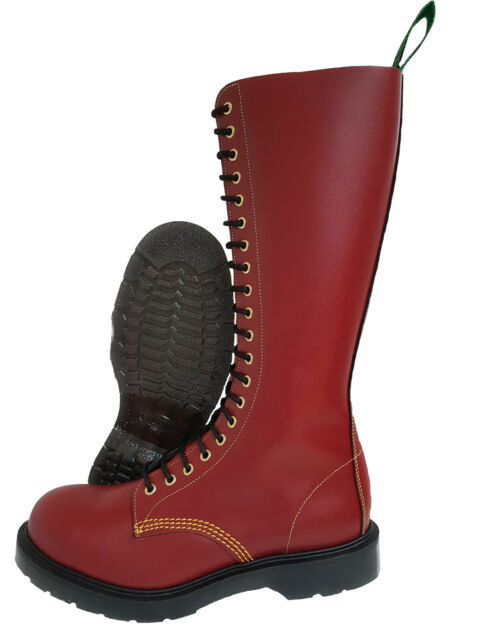 5057ddaefa1 Solovair NPS Southerner Made in England Cherry Red Steel Toe BOOTS Punk  Skinhead 20 Hole / Eyelet 6uk / 7us / 40eu Mens