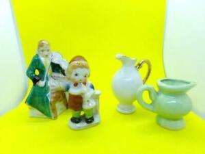 Vintage Lot Knick Knacks 2 Occupied Japan Figurines 2 Miniature Pictures Ebay