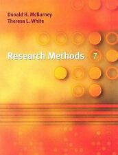 Research Methods, 7th Edition by McBurney, Donald H.; White, Theresa L.