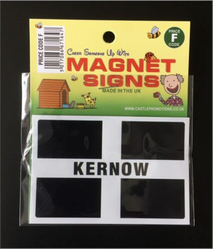 NEW KERNOW FLAG WITH TEXT CELTIC CARAVAN  CAMPER CAR FRIDGE MAGNET 95MM X 64MM