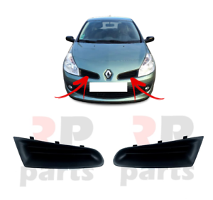 NEW RENAULT CLIO 05-09 FRONT BUMPER MOLDING PLASTIC BLACK NOT CAMPUS RIGHT O//S