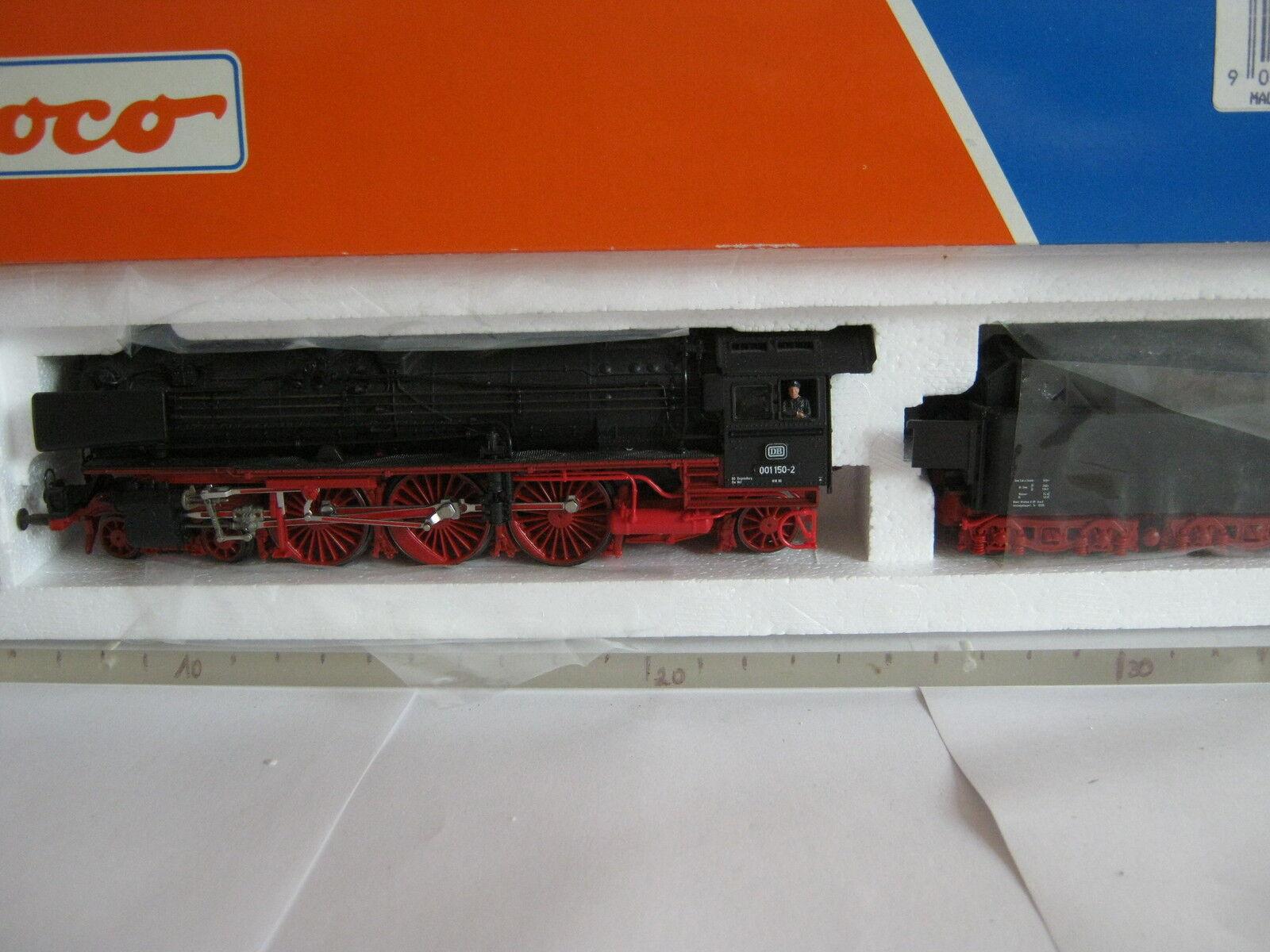 ROCO HO 43240 locomotiva a vapore BR 01 150-2 DB  rg/bt/182-83s6/2