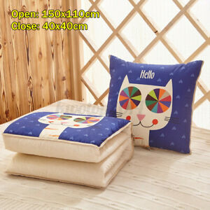 2in1-Pillow-Quilt-Multi-function-Foldable-Throw-Blanket-Cushion-Home-Sofa-Decor
