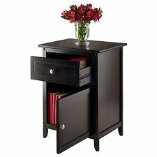 Small Office End Side Table Living Room Drawer Furniture Wood Storage Mission