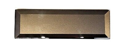 1 pc 2.5x8 Temptation Suede Bronze Glass 3D Backsplash Wall Tile Kitchen Bath