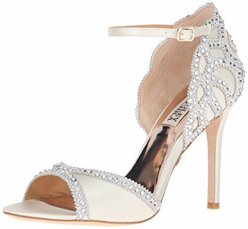 156b2be63cd Badgley Mischka Roxy Ankle Strap Sparkle Dress Sandals 720 Ivory 7.5 US for  sale online