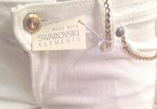 A7 Exclusive White Jeans  - 29 -   Fully embellished GOLD SWAROVSKI ELEMENTS !!!