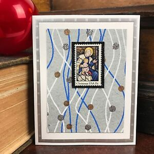 Christian Christmas Cards Handmade Set Of 5 Nativity Madonna Child Religious Ebay