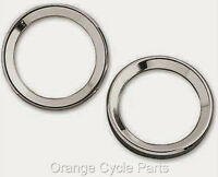 Small Instrument Gauge Chrome 2 Bezel Trim Ring Harley Road Glide 2000-up Pair
