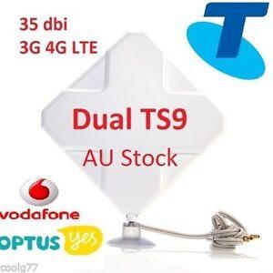 35dBi-3G-4G-LTE-ANTENNA-BOOSTER-Telstra-mobile-broadband-Wi-FI-4GX-Pro-2xTS9