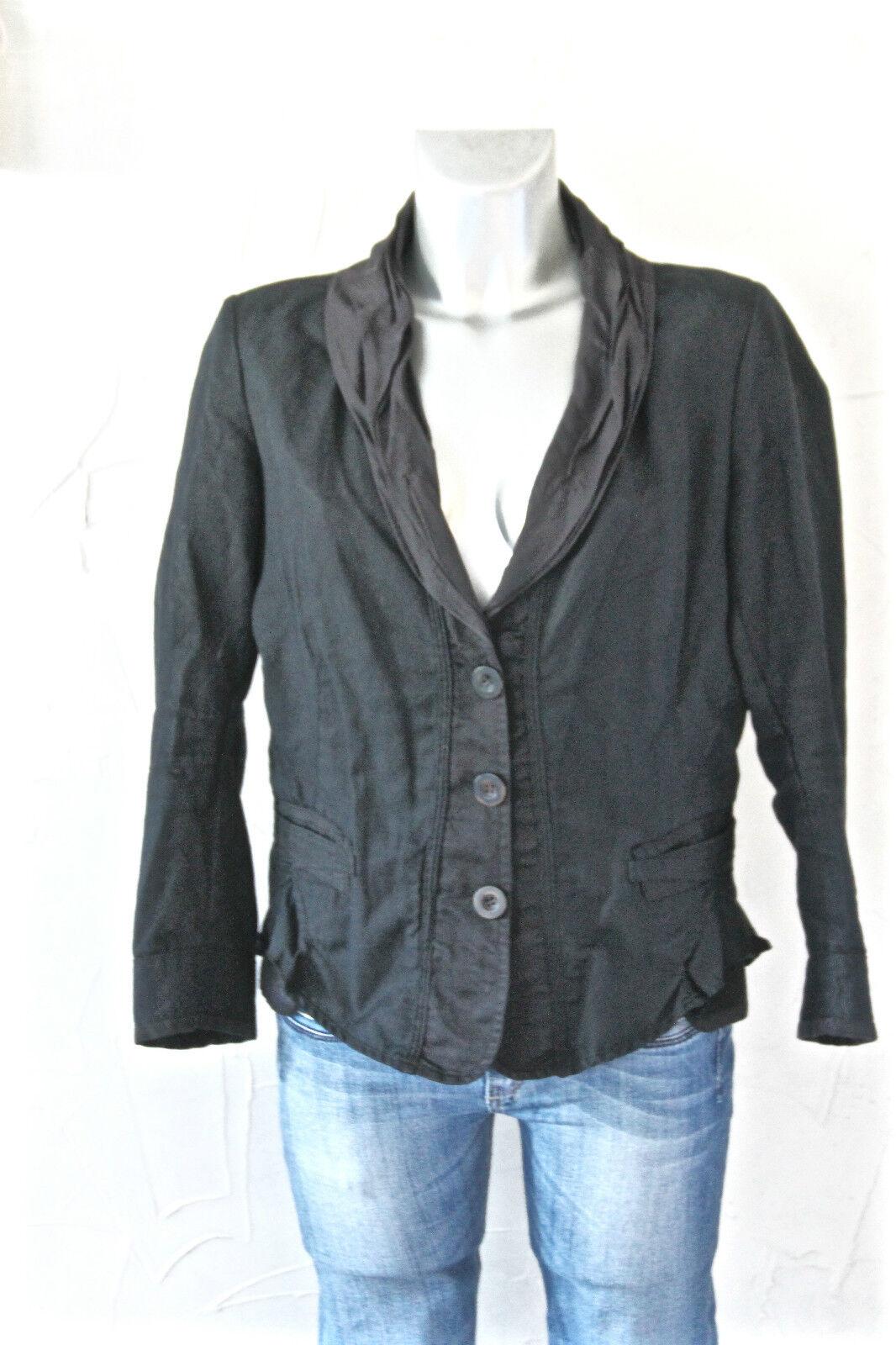 Jolie luxueuse coat veste coton lin blacke MARITHÉ FRANCOIS GIRBAUD size 42