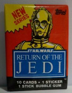 1983 Topps Star Wars Return of the Jedi Series 2 Sealed Wax Pack C-3PO