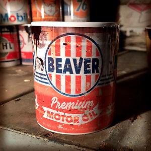 2x-Beaver-oil-can-Gift-Motorcycle-Car-Mechanic-Gift-11oz-Tea-coffee-mugs