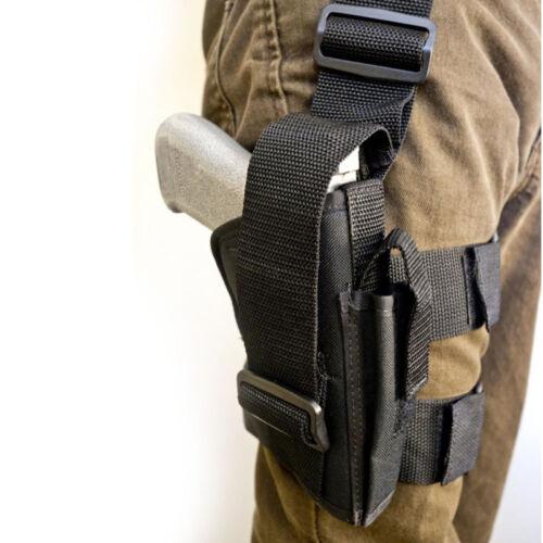 Tactical Drop Right Leg Holster Magazine Pouch Molle Airsoft Pistol Gun Holster