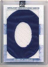 OWEN NOLAN 08/09 ITG Superlative Franchise Famous Fabrics LETTER PATCH True 1/1*