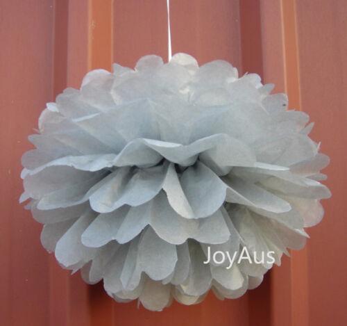 12x 25cm paper pom poms 16 birthday wedding anniversary party hanging decoration