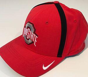 40715c8fd10652 NEW Ohio State Buckeyes OSU Nike Vapor Coach Hat OSFM DRI-FIT Cap ...
