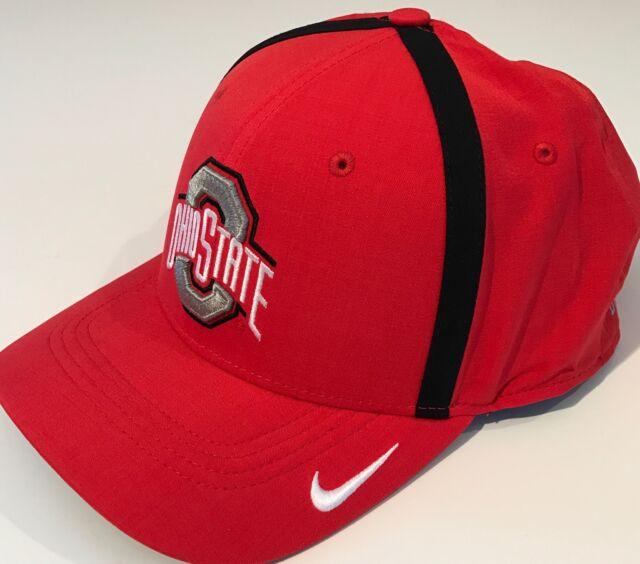 best sneakers 18373 71950 NEW Ohio State Buckeyes OSU Nike Vapor Coach Hat OSFM DRI-FIT Cap Red