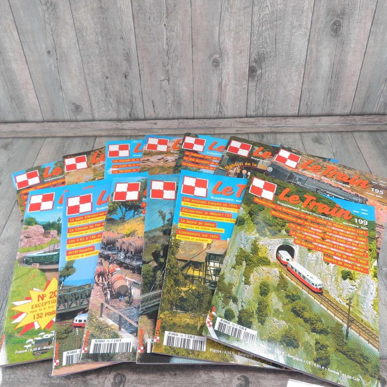 LE TRAIN - 13 Hefte - aus den Jahren 2003 & 2004 -  A21150