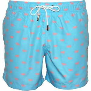 ADIDAS Men/'s Check Shorts Da Bagno Taglia S Small nera bordo piscina nuova