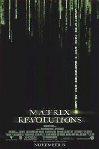 THE MATRIX REVOLUTIONS ~ 27x40 DOUBLE SIDED ORIGINAL MOVIE ...