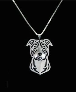 Brand new pitbull 3d silver pendant american staffordshire terrier image is loading brand new pitbull 3d silver pendant american staffordshire aloadofball Gallery