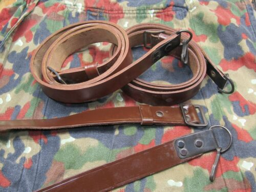 and other rifles VG EXC CONDITION Romanian Leather Sling for 7.62x39 5.45 SKS