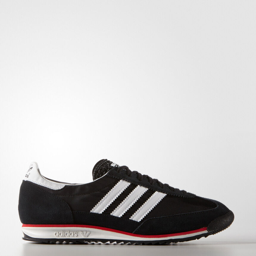 [Adidas] S78997 Originals SL72 Sneakers Vintage Men Women Running Sneakers SL72 Black 7caa20