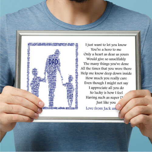 Dad Gifts Birthday Gift Boys Father/'s Day From Son Children Personalised Daddy