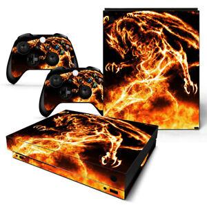 Design; In Dragon Motiv Novel Xbox One X Skin Design Foils Aufkleber Schutzfolie Set